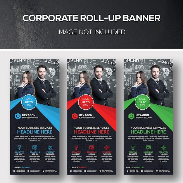 Banner corporativo de roll-up Psd Premium