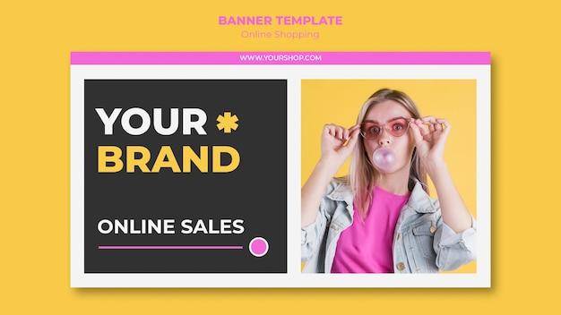Banner de compras on-line de verão Psd grátis