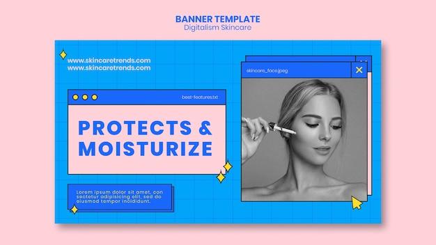 Banner de cuidados com a pele do digitalismo Psd grátis