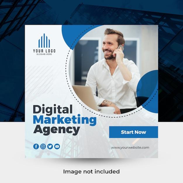 Banner de mídia social de negócios criativos Psd Premium