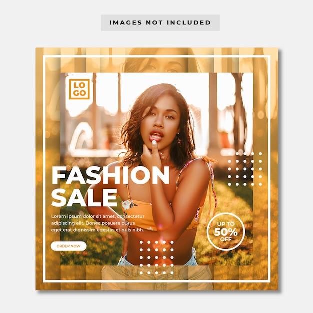 Banner de mídia social de venda de moda Psd Premium