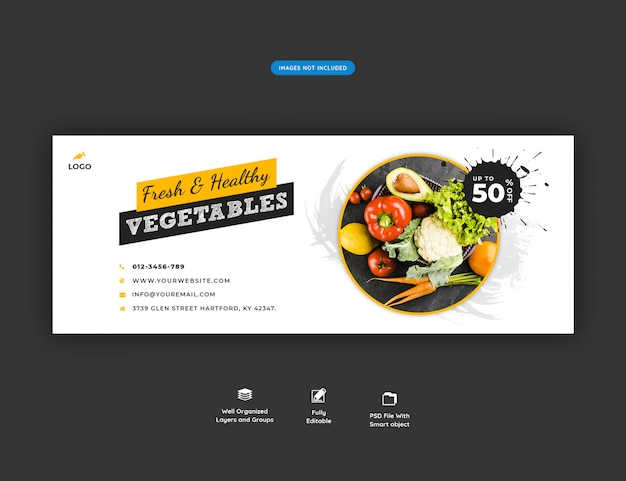 Banner de mídia social de venda de supermercado Psd Premium