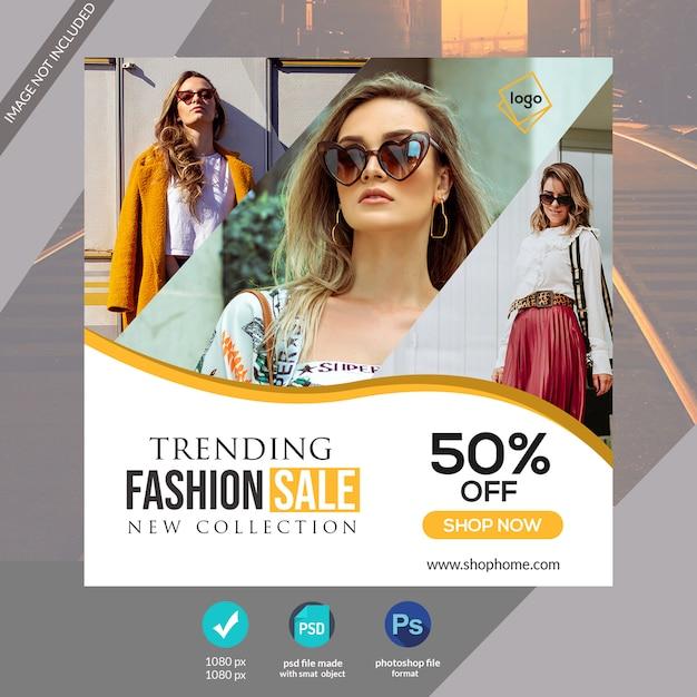 Banner de mídia social web ou modelo de postagem do instagram Psd Premium