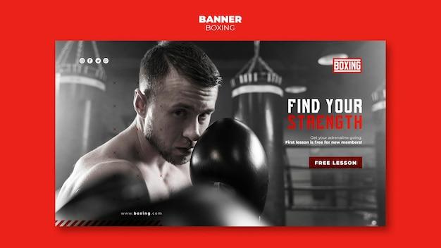 Banner de modelo de anúncio de boxe Psd grátis