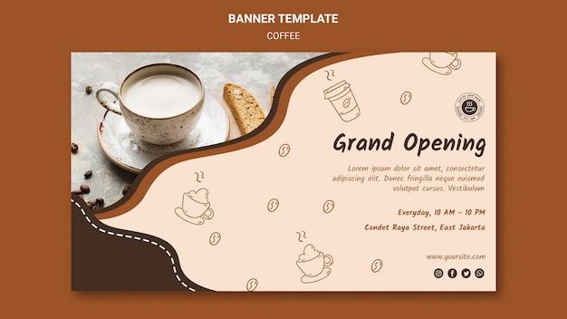 Banner de modelo de anúncio de cafeteria Psd grátis