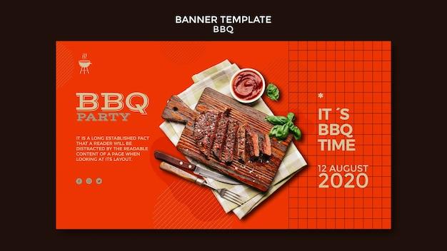 Banner de modelo de festa de churrasco Psd grátis