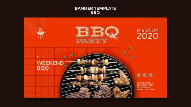 Banner de modelo de festa para churrasco Psd grátis