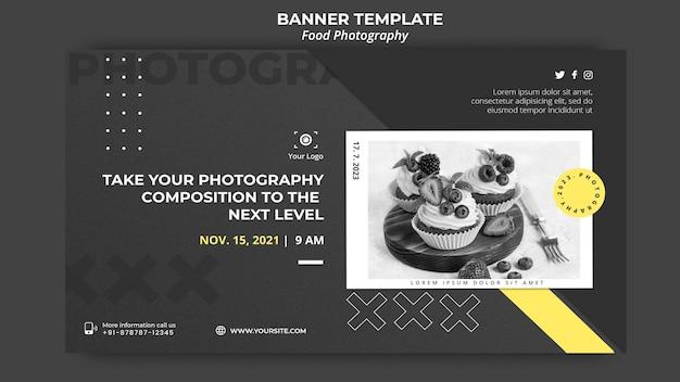 Banner de modelo de fotografia de comida Psd grátis