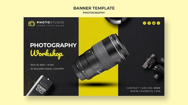 Banner de modelo de oficina de fotografia Psd grátis
