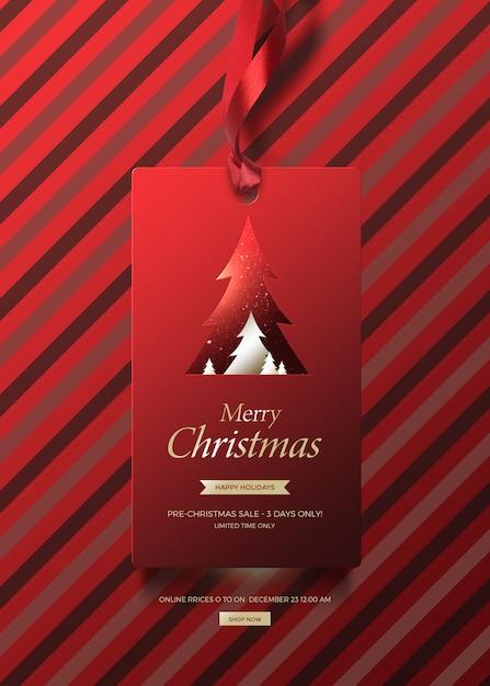 Banner de natal para vendas Psd Premium