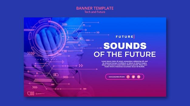 Banner de tecnologia e conceito futuro Psd grátis