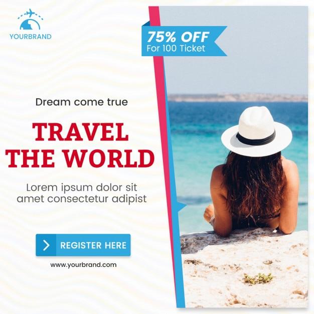 Banner de turismo Psd Premium