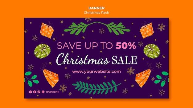 Banner de venda de natal com ofertas especiais Psd grátis