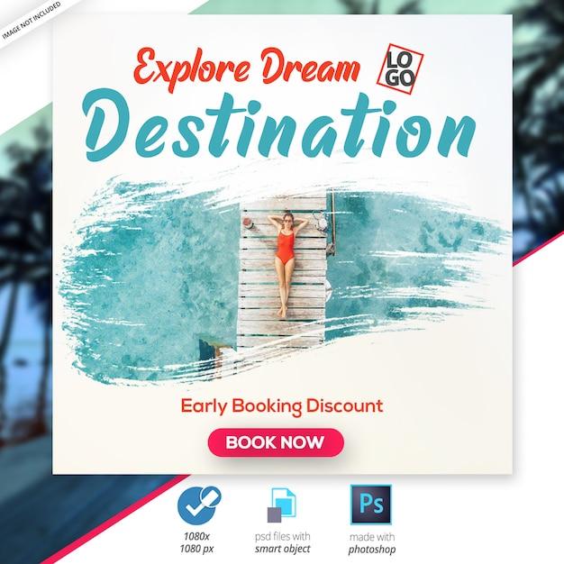 Banner de viagem Psd Premium