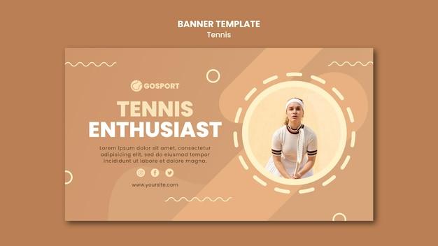 Banner horizontal para jogar tênis Psd grátis