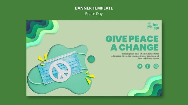 Banner horizontal para o dia internacional da paz Psd grátis