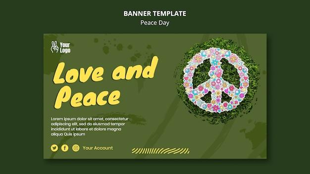 Banner horizontal para o dia mundial da paz Psd grátis