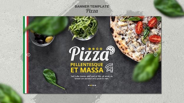 Banner horizontal para pizzaria italiana Psd grátis