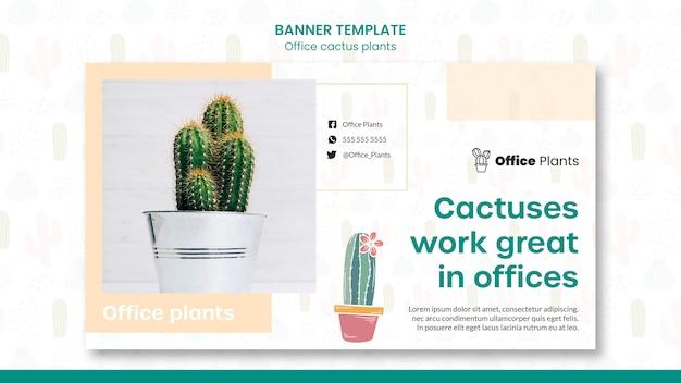 Banner horizontal para plantas de espaço de trabalho de escritório Psd grátis