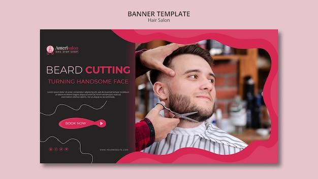 Banner horizontal para salão de cabeleireiro Psd grátis