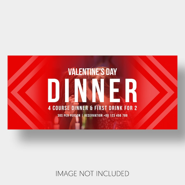 Banner modelo restaurante casal dia dos namorados Psd grátis