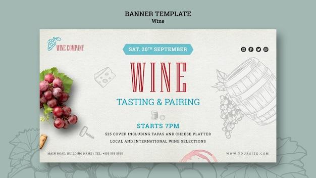 Banner para degustação de vinhos Psd grátis