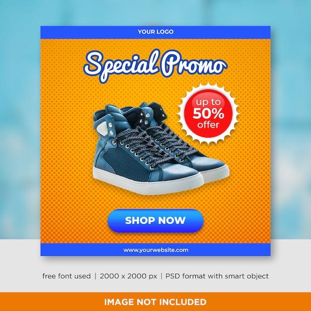 Banner quadrado de vendas com imagem Psd Premium