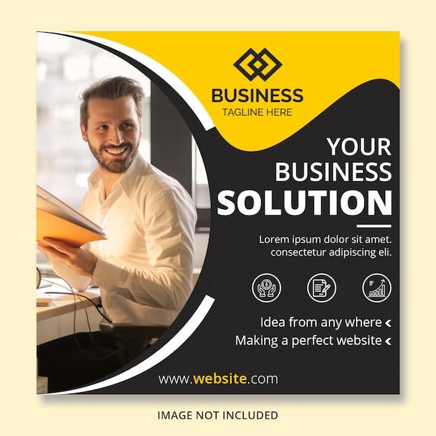 Banners de postagem do instagram de negócios Psd Premium