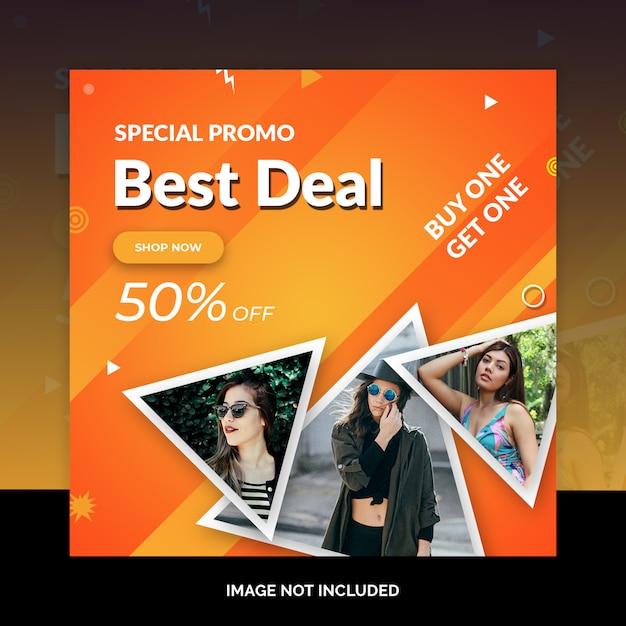 Banners de web de mídia social de venda especial de fim de semana Psd Premium