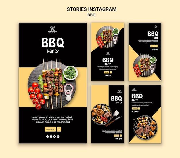 Bbq party instagram stories Psd grátis