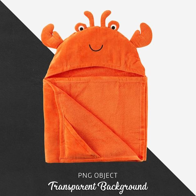 Bebê laranja ou toalha infantil, roupão de banho em fundo transparente Psd Premium
