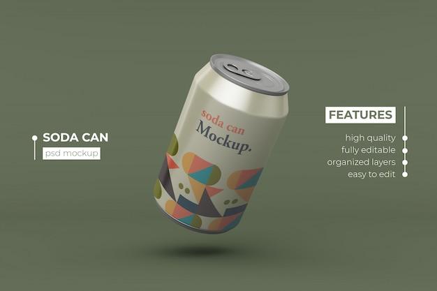 Bebida de alumínio de alta qualidade pode design de maquete Psd Premium