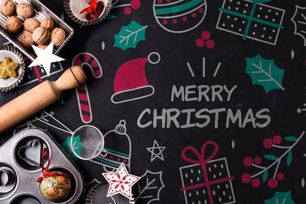 Biscoitos assados para o feriado de natal Psd grátis