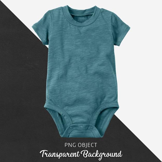 Body de bebê turquesa em fundo transparente Psd Premium