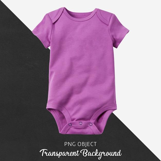 Bodysuit roxo transparente do bebê Psd Premium