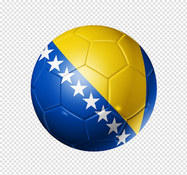 Bola de futebol com bandeira da bósnia e herzegovina Psd Premium