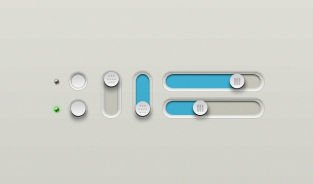 Botões botão de desligar deslizante sobre sliders slider Psd grátis