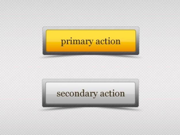 Botões web com efeito de vidro Psd grátis