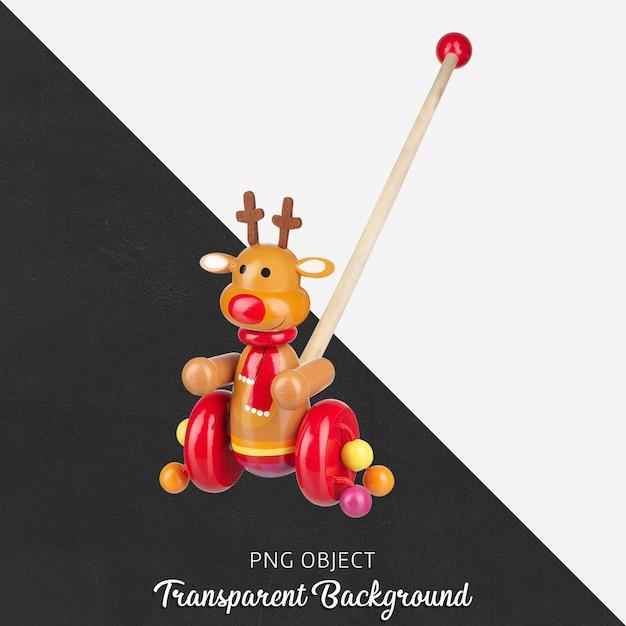 Brinquedo colorido walker de madeira em transparente Psd Premium