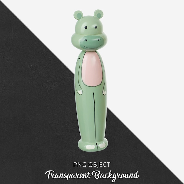 Brinquedo de elefante de madeira transparente Psd Premium
