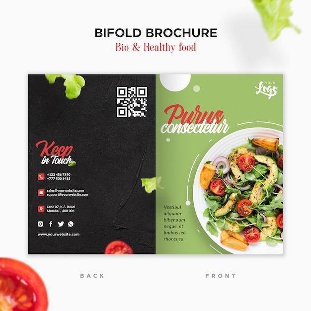 Brochura bi e bi-saudável Psd grátis