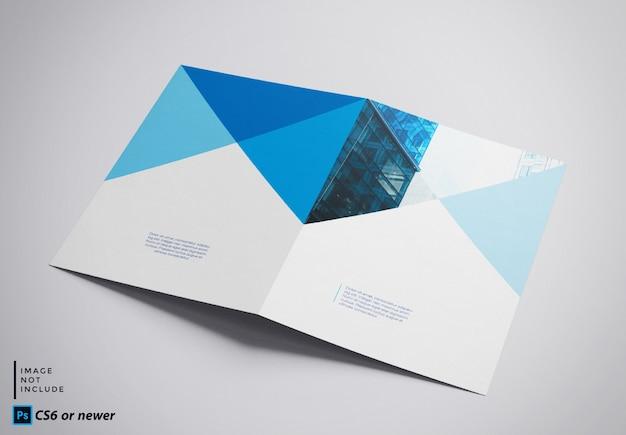 Brochura bifold simulada Psd Premium