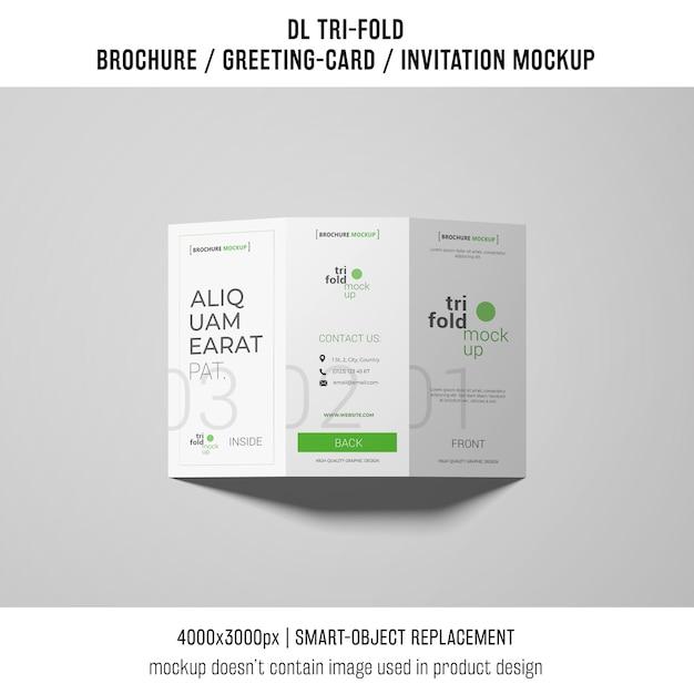 Brochura com três dobras elegante ou modelo de convite Psd grátis