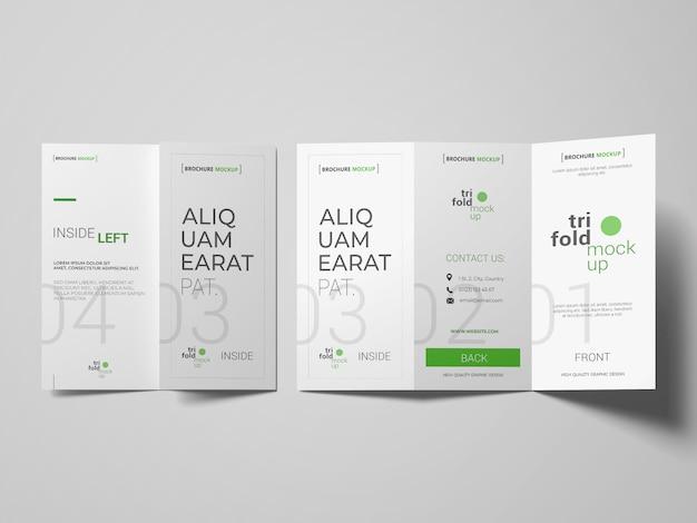 Brochura com três dobras ou modelos de convite Psd grátis