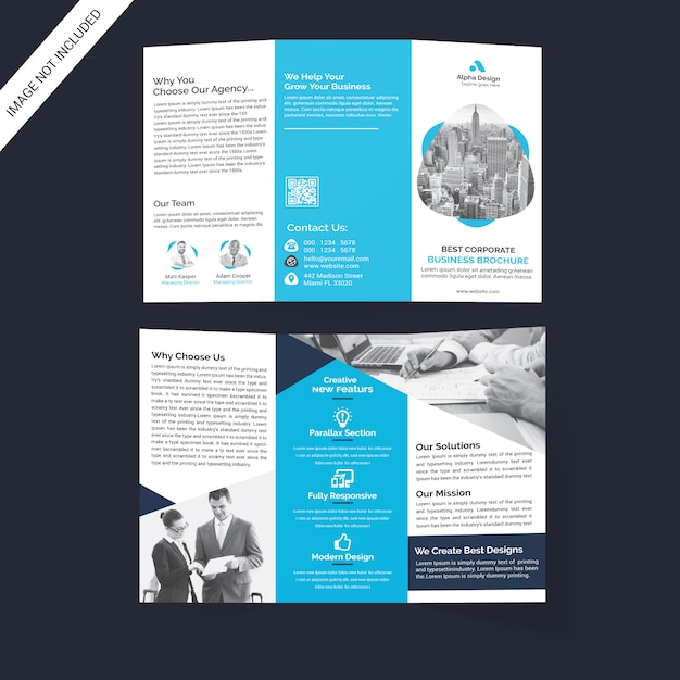 Brochura corporativa tri-fold Psd Premium