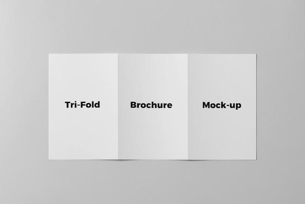 Brochura dobrável em três partes mock up Psd Premium