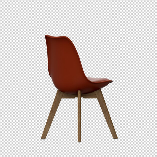 Cadeira isométrica 3d renderização isolada Psd Premium