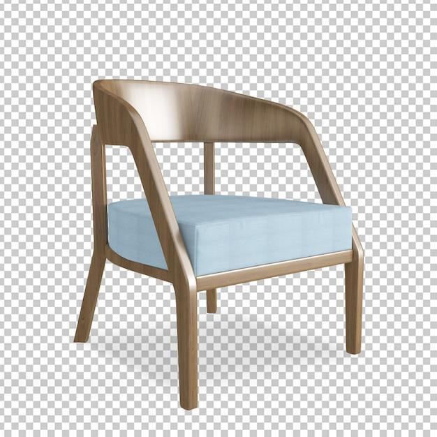 Cadeira isométrica em renderização 3d Psd Premium