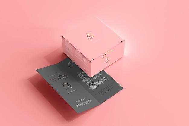 Caixa com maquete de brochura dupla Psd grátis
