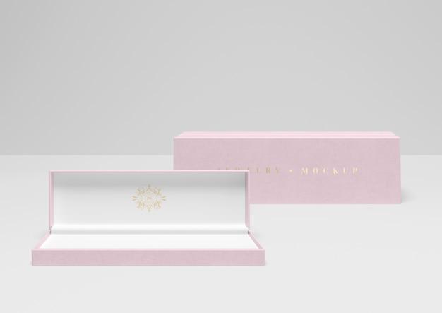 Caixa de embalagem de jóias mock-up Psd grátis